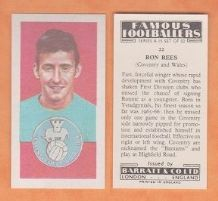 Coventry City Ronnie Rees Wales 22